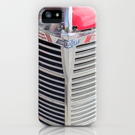 Vintage car grille iPhone Case