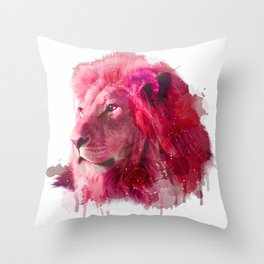 Rose Lion Throw Pillow