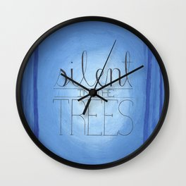 Silent in the Trees Wall Clock