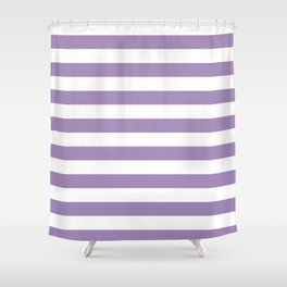 lavender stairs Shower Curtain