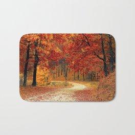 Autumn Landscape 1   Paysage d'Automne 1 Bath Mat