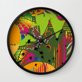 camouflage chaos Wall Clock