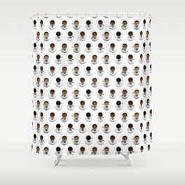 Coffee Polka Dots Shower Curtain
