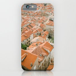 Rooftops of Dubrovnik | Pastel Croatia fine art photography print poster | Wanderlust Europe  iPhone Case