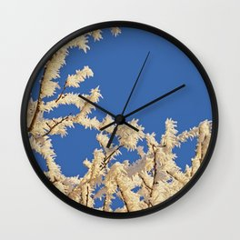 Frosted Trees Winter Wall Clock