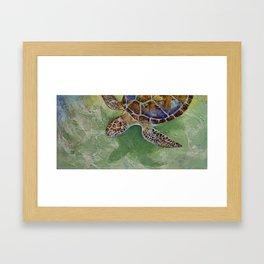 Caribbean Sea Turtle Framed Art Print