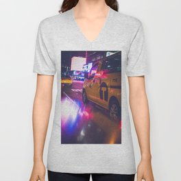 Taxi NYC Life (Color) Unisex V-Neck