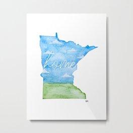 Minnesota Home State Metal Print