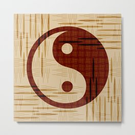 Yin Yang, Warp and Weft Metal Print
