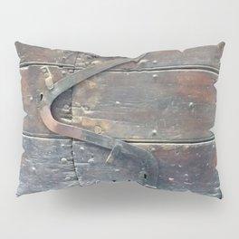 Antique door latch wooden door Rome Italy Pillow Sham
