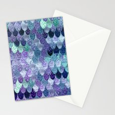 SUMMER MERMAID III Purple & Mint by Monika Strigel Stationery Cards
