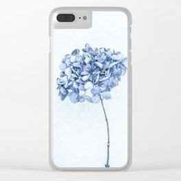 Hydrangea Blue 2 Clear iPhone Case