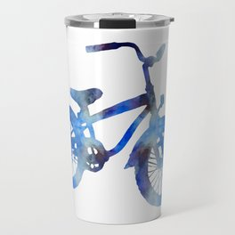 Blue bicycle Travel Mug