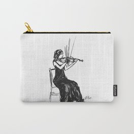 Playing the violin Carry-All Pouch