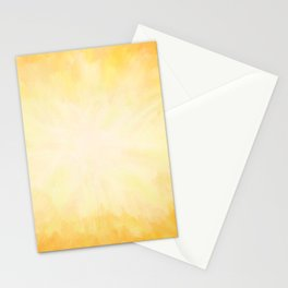 Golden Sunburst Stationery Cards