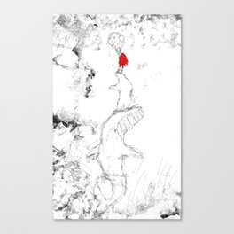 Nanook and Id Helping Sedna Reach the Moon Canvas Print