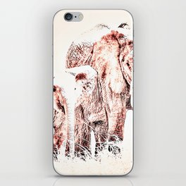 Animals Of The Rainbow Elephants iPhone Skin