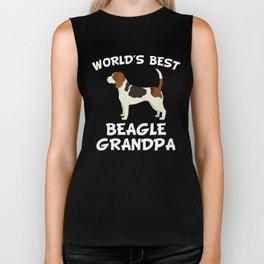 World's Best Beagle Grandpa Biker Tank