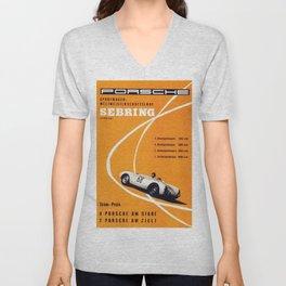 Vintage Sebring Raceway  Poster Unisex V-Neck