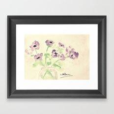 A Jar of Violets  Framed Art Print