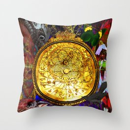 Astrolabe Our Place in the Universe Throw Pillow