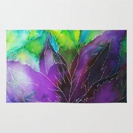 Purple Leaf Rug