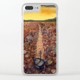 sword in stone at death valley Clear iPhone Case