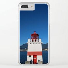 Brockton Point Lighthouse Clear iPhone Case