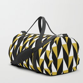 Geometric Pattern 77 (mustard black triangles) Duffle Bag