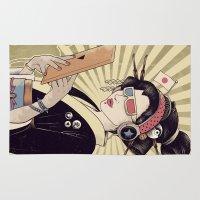 geisha Area & Throw Rugs featuring Geisha by Azrhon