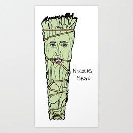 Nicolas Cage Nicolas Sage smudge Art Print