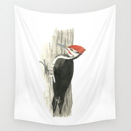 Pileated Woodpecker - Watercolor Wall Tapestry