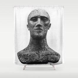 The Bald Man Shower Curtain