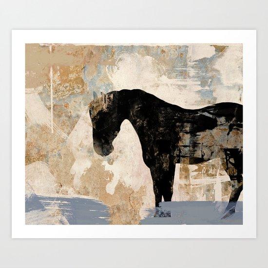 Modern Day Horse Art Print