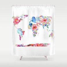 Optimistic World Shower Curtain