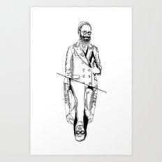 MENBEARD VS MENRAPPEUR Art Print