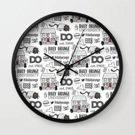 Daily Orange Pattern Wall Clock