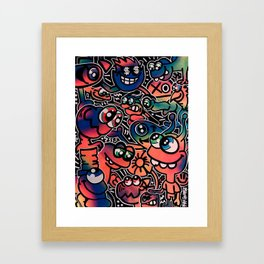 Good Friends and Great Vibes Framed Art Print