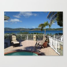 Pool with a view, St. John, USVI Canvas Print