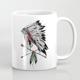 chieftain feather headdress Coffee Mug
