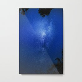 Looking up into the milkyway galaxy Metal Print