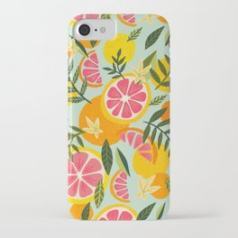 Grapefruit Blooms – Mint Palette iPhone Case