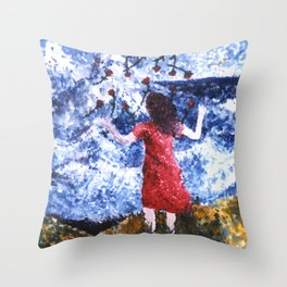 Saying Goodbye Throw Pillow
