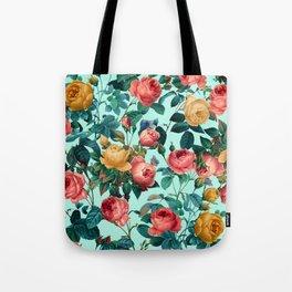 Spring-Summer Botanical Pattern II Tote Bag