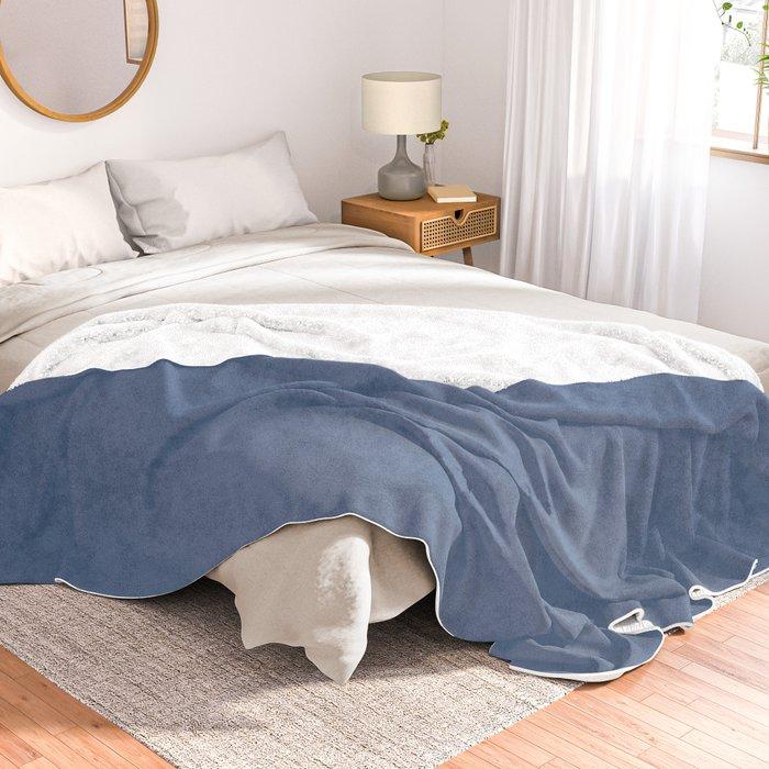 Simply Aegean Blue Throw Blanket