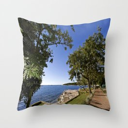 Nature Park On The Beach Throw Pillow