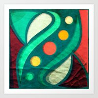 planets Art Prints featuring Planets by VessDSign