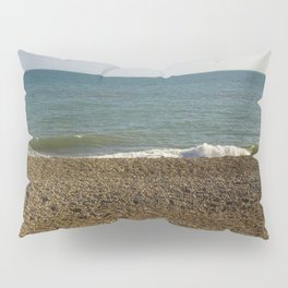 Evening Tide on a cobbled beach Pillow Sham