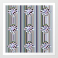guides colored stripes Art Print