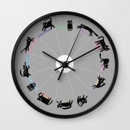 2017 Cat Calendar - Grey Wall Clock